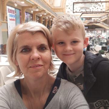 Ann Antheunis en zoontje Massimo